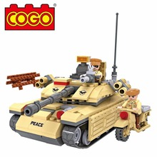 COGO 278PCS Military Army Tank Model Building Brick Block Toys Educational DIY Set Christmas/Birthday Gift For Child(No Package(China)