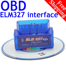 BrandNew Car DVD Player Excellent Quality Super Mini ELM327 Bluetooth OBD2 OBD II Works On Android Torque ELM327