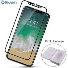 Ollivan HD Tempered glass for apple iphone x glass Full cover Screen Protector for iphonex accessories Guard Pelicula de vidro(China)