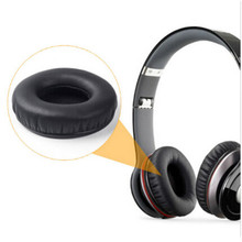 1 Pair Comfortable Earpad Earphone Replacement Cushion Pad Cover Black For Beats SOLO/SOLO HD headset Headphones