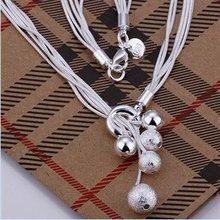 MANILAI Fashion Silver Color Jewelry Tassels Chain Ball Pendant Necklaces For Women Dress N222