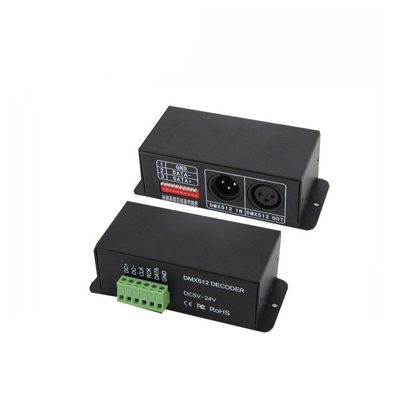 1X LED DMX to SPI signal decoder support IC TM1803/TM1804/TM1809/TM1812/UCS1903/UCS1909/UCS1912/UCS2903/WS2811 free shipping<br>