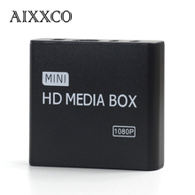 AIXXCO Mini Full Hd 1080p Usb External Hdd Player With SD MMC Card Reader Host Support Mkv Hdmi Hdd Media Player
