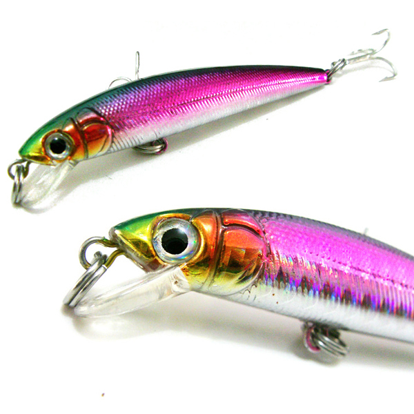 80mm Minnow Crank Bait fishing Lures 8 CM hooks Hard bait Stick fishing lure 3 Carbon hooks<br><br>Aliexpress