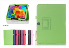 New Flip Leather Stand Case Cover Tablet Holster for Samsung Galaxy Tab 4 10.1 SM T530 T531 T535 +Gift film Free Shipping