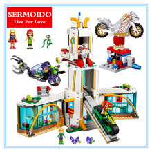 SERMOIDO 29001 Compatible With 10168 Super Hero High School Girl Series Set Educational Building Blocks Brick Toys 712Pcs 41232(China)