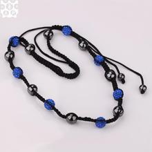 N001 Attractive Handmade AB clay shamballa necklace for women