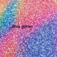 21X29 cm 3pcs Rainbow Chunky Glitter Fabric Pu leather Fabric For Bow DIY Wallpaper GM095(China)
