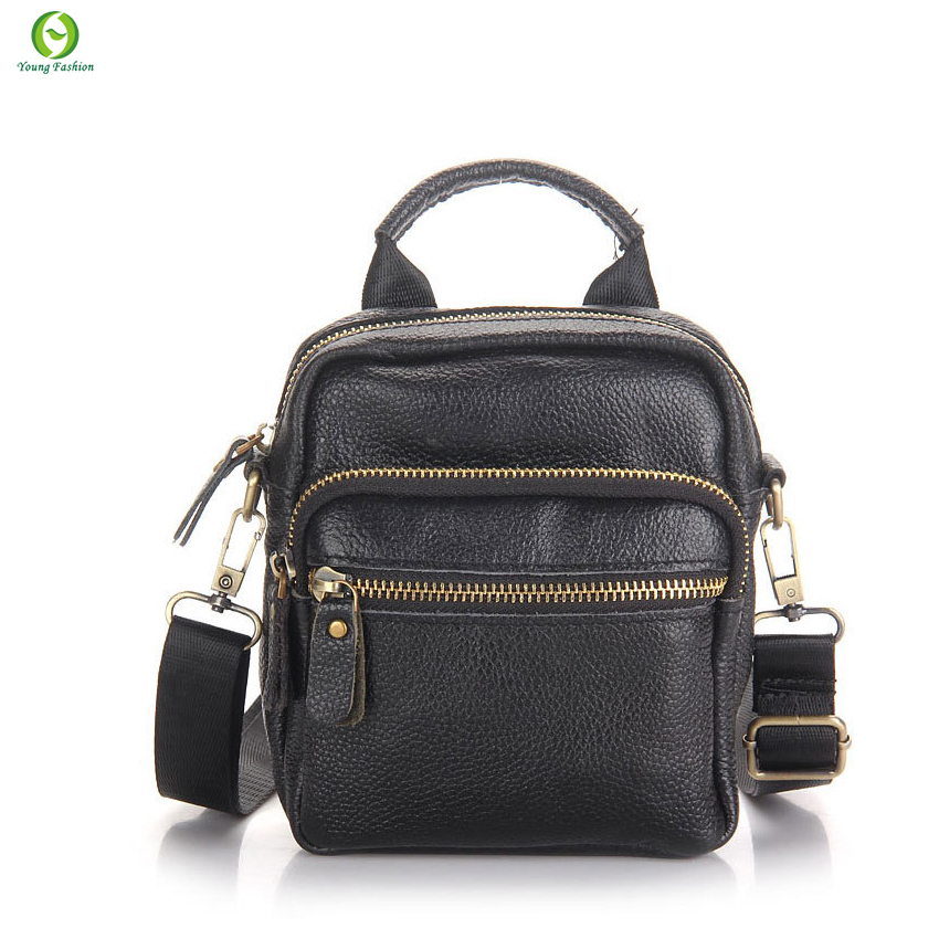 high quality leather men messenger bag first layer cow leather shoulder bags casual men handbag crossbody small men bags black<br><br>Aliexpress