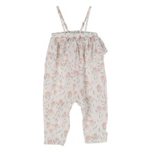 1-6Y Baby Girls Feather Printed Strap Sleeveless Jumpsuit Summer Cotton Party Shopping Costume Baby Girls Summer Clothing(China)