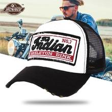 Summer Baseball Cap Motorcycle Helmet Embroidery Mesh Cap Hats Men Women Hats Casual Retro Caps