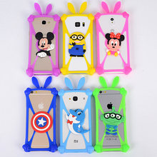 2017 Hot Fashion Universal Cartoon Silicone Phone Case For Digma VOX G450 3G for Digma VOX A10 3G Cover ,Stretchable ,21 Styles