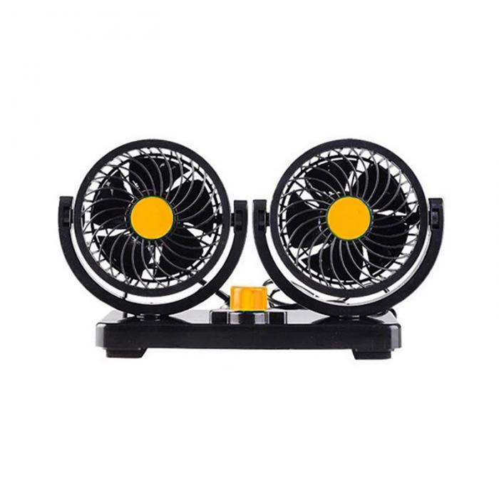 fan for auto 12V/24V Electric Car Double Head Fan Rotatable 2 Speed  Automobile Dashboard Cooling Fans For SUV RV Boat Auto Vehicles D