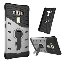 TopArmor For Asus Zenfone 3 Deluxe ZS570KL Phone Case Shockproof 360 swivel bracket Netted heat dissipation Armor Phone Cover(China)