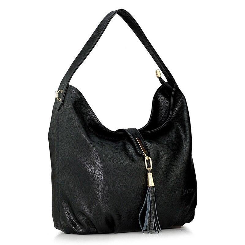Woman Bag Fashion Women Shoulder Messenger Bag Genuine Leather Womens Totes Handbags Large Capacity Crossbody Ladies Tassel Bag<br>