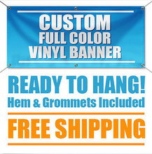 4'x 6' Full Color Custom Banner High Quality 16oz Vinyl - Free Shipping