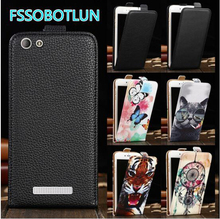 FSSOBOTLUN For BQ BQ-5032 Element Case TOP Quality Cartoon Painting vertical phone bag flip up and down PU Leather Cover BQ 5032