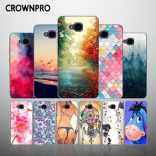 CROWNPRO Silicone Case FOR Huawei Honor 5C Euro Version No Fingerprint Soft TPU Protective Cover FOR Huawei Honor 5C Phone Funda