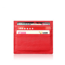 RFID Blocking Creative genuine leather Compact Wallet Slim Super Thin credit card business card bag anti-theft card case(China)