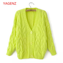Fashion Students Sweater coat Women Large size Autumn clothes NEW100% High quality Knitting Factory direct sale BN2241 YAGENZ