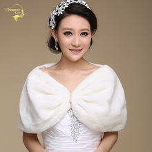 Bolero Outerwear Wedding Accessories Urged Wrap Bride Formal Winter Cape Bride Fur Shawl Wedding Jackets Wrap OJ00167