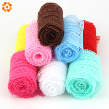 10Yard/Lot New Selling Lace Ribbon Width 45MM DIY Embroidered Net Lace Trim Fabric For Sewing Wedding Decoration 10Colors 9m