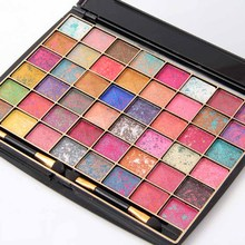 MISS ROSE 48 Color Mixing (single Cell Within The Mixed Color) Convex Classic Easy On Powder Wet Eye Shadow