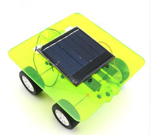 DIY Solar Car Self assembly Mini Solar Powered DIY Car Kit Children Educational Toy Gadget Gift 4 colors(China)