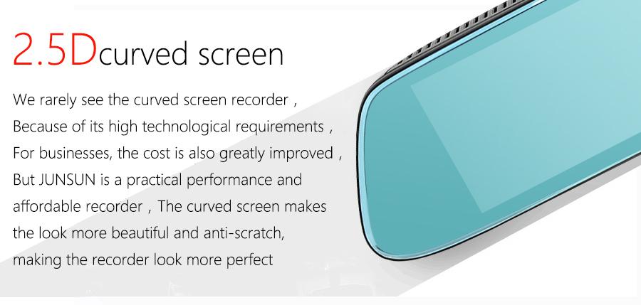 "Junsun 8"" 4G Special Mirror Car DVR Camera Android 5.1 with GPS DVRs Automobile Video Recorder Rearview Mirror Camera Dash Cam 23"