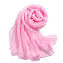 Girls Women Scarves Long Soft Thin Wrap Lady Shawl Chiffon Scarf Beach women scarf Pure color chiffon towel scarf 160*50CM