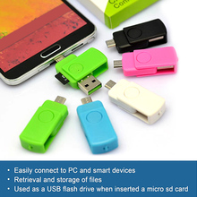 USB 2.0 Mini OTG Card Reader OTG High Speed Memory TF Card Adapter USB Reader Connection Kit For Computer Android Mobile Phone