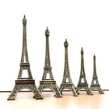Metal model Eiffel Tower Office desk decoration with Nice Color Box packaging as Nice gift for Friends and Lovers