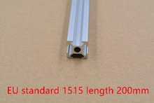 1515 aluminum extrusion profile european standard white length 200mm industrial aluminum profile workbench 1pcs