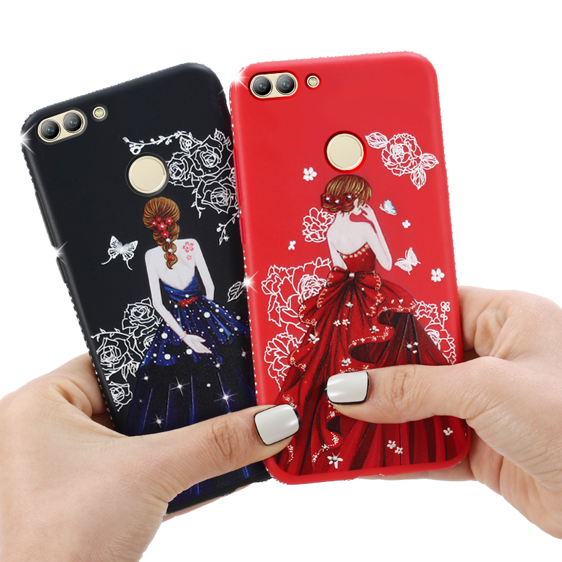 Dress girl silicone case huawei p smart (4)