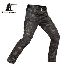 Cargo-Pants Trousers Water-Repellent Combat MEGE Military Tactical Camouflage Men's Casual