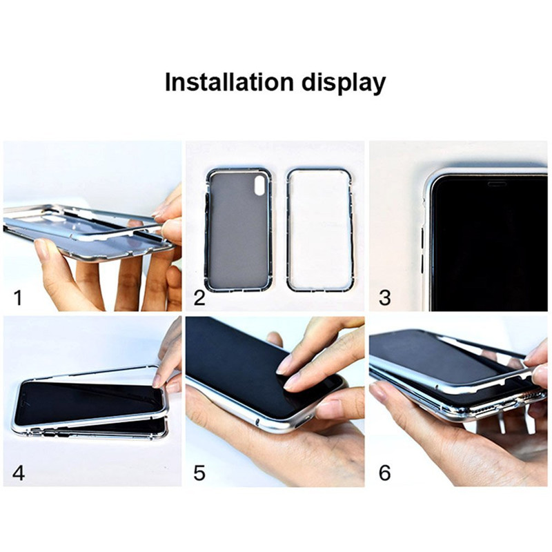 Magnetic Adsorption Case for iphone x (6)