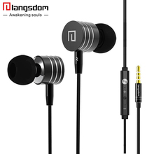 Langsdom i7a Metal Earphones Stereo Bass Headset Volume Control Earphone for phone In-ear Headsets for Xiaomi Mp3 fone de ouvido