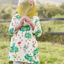 Baby Girls Dresses Long Sleeve Robe Fille 2017 Brand Autumn Children Dress Kids Clothes Printed Tunic Princess Dress with Pocket
