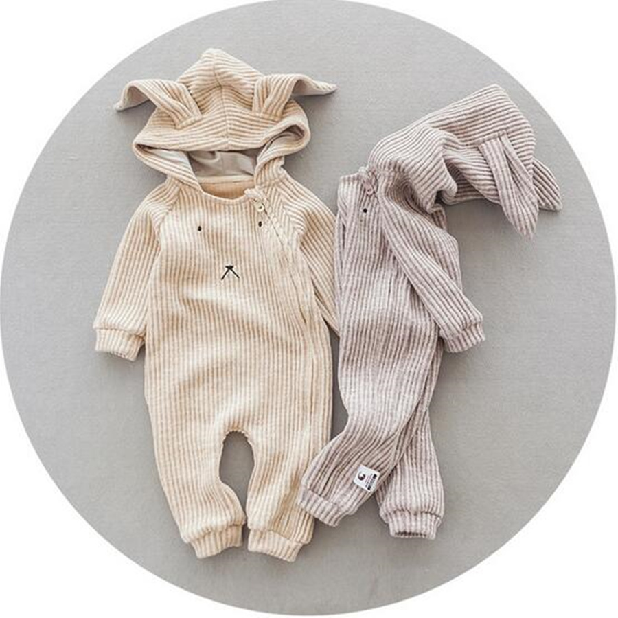 Baby Girl Winter Woolen Long Sleeve Cute Rabbit Cotton Newborn Costume Baby Jumpsuits Solid Christmas Baby Rompers<br><br>Aliexpress