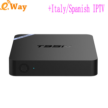 T95N quad core Android6.0 TV box 2GB 8GB wifi set top box with Albania IPTV account Dutch USA france Spain turkey IP tv code apk
