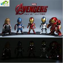 KIDS NATIONS Avengers Age of Ultron Hulk Buster Iron Man Thor Captain America  PVC Action Figure  Mode Toy Mobile Dust plug