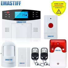 APP English/Russian/French/SpanishVoice Wired Wireless SOS Panic Button LCD Home Security GSM SMS Alarm System Auto Dialer