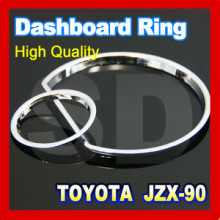 DASH Free Ship for Toyota Chaser JZ X90 1992 1996 Chrome Cluster Rings Chrome Gauge Rings Chrome DASH board ABS