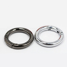 Wholesale 30PCS,Inside 25mm (1 inch) 5.0 Webbing Gunmetal Nickel Snap Spring Ring for Making Purse Bag Handbag Handle Connector