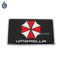 3D Stickers Aluminum Umbrella Car Sticker Decals Car Styling BMW AUDI VW Ford Jaguar Mercedes Benz Chevrolet Toyota Fiat