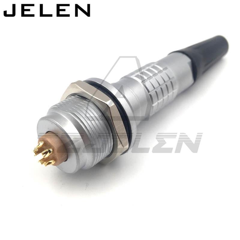 LEMO waterproof  connector 5 pin Plug socket FGG.2K.305, EGG.2K.305. Medical connector, electromechanical device power connector<br>