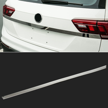 Fit For 2017 2018 VW Tiguan Chrome Rear Trunk Tailgate Door Handle Cover Tail Gate Light Lamp Trim Bezel Molding Garnish Styling(China)