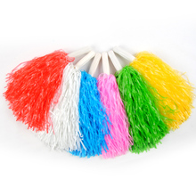50g Plastic Pe Cheerleading Pompoms (10 Pieces/lot) Cheerleader Pom Poms Cheerleader Supplies For Sports Match New