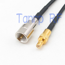 6in FME male plug to SMB male pug RF connector adapter 15CM Pigtail coaxial jumper RG174 extension cord cable(China)