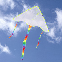 DIY Painting Flying Kites Kids Outdoor Toys Rainbow Flying Papalote Toy Foldable Nylon Ripstop Fabric Children Flying Kites(China)
